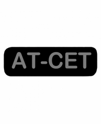 AT-CET Patch Small Black