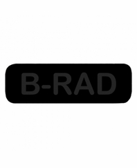 B-RAD Patch Small (Black with Black Letters)