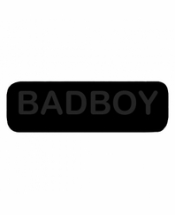 BADBOY Patch Large Black with Black Letters