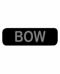 BOW Patch Large Black