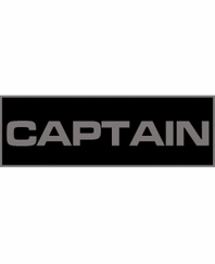 Captain Patch Large (Black)