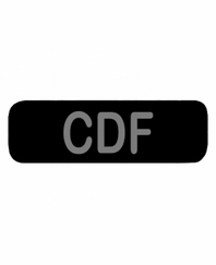 CDF Patch Small (Black)