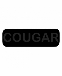 COUGAR Patch Large (Black with Black Letters)