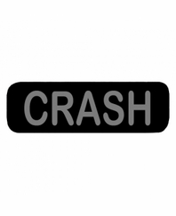 CRASH Patch Small (Black)