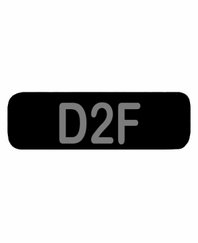 D2F Patch Small (Black)