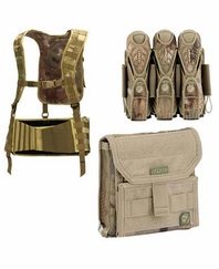 Dye Tactical Harness Admin Pouch 3 Plus 4 Pouch Combo