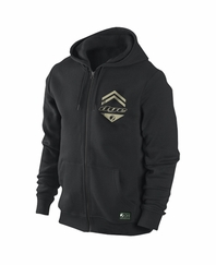 Dye Tactical Zip Hoodie Sweatshirt - Black