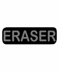 ERASER Patch Large Black