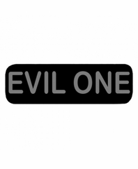 EVIL ONE Patch Large Black