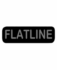 FLATLINE Patch Small Black