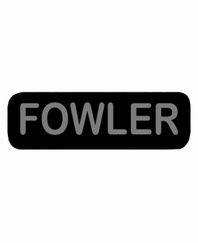 FOWLER Patch Large Black