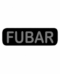 FUBAR Patch Large Black