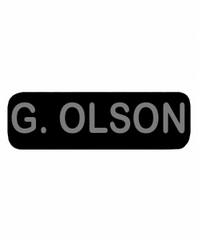 G OLSON Patch Small (Black)
