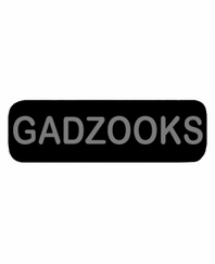 GADZOOKS Patch Small (Black)