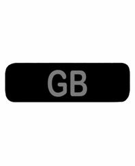 GB Patch Small Black
