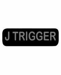 J TRIGGER Patch Small (Black)