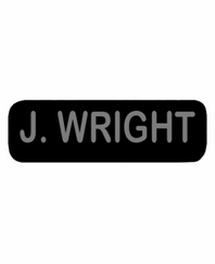 J WRIGHT Patch Small (Black)