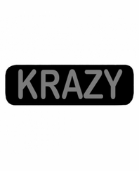 KRAZY Patch Small Black