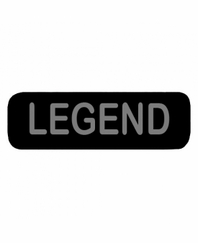 LEGEND Patch Small Black