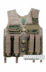 MOLLE Paintball Vest (Digital Camo)