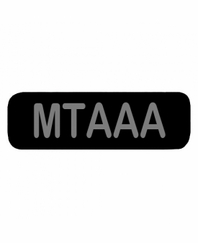 MTAAA Patch Large (Black)