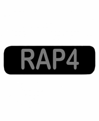 RAP4 Patch Large Black