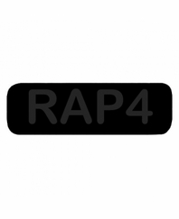 RAP4 Patch SMALL Black with Black Letters