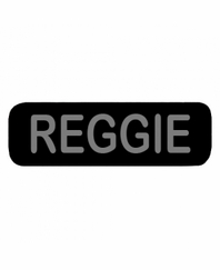 REGGIE Patch Small Black