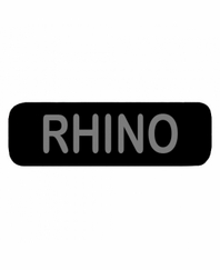 RHINO Patch Small Black