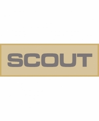 scout patch small tan