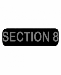 SECTION 8 Patch Large Black