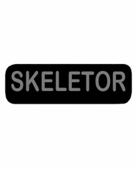SKELETOR Patch Large Black