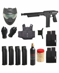 Spyder Hammer 7 Tactical Mag-Fed Paintball Marker Package