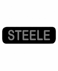 STEELE Patch Large Black