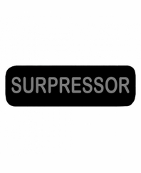 SURPRESSOR Patch Large Black