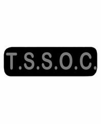 T S S O C  Patch Large Black
