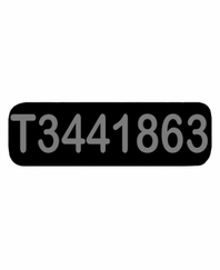T3441863 Patch Small Black
