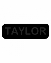 TAYLOR Patch Large Black with Black Letters