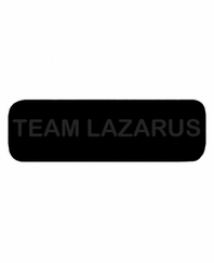 TEAM LAZARUS Patch Large Black with Black Letters