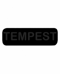 TEMPEST Patch Large Black with Black Letters
