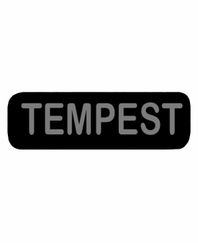 TEMPEST Patch Small Black