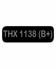 THX 1138 B+ Patch Large Black