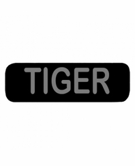TIGER Patch Large Black