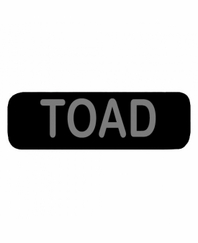 TOAD Patch Large Black
