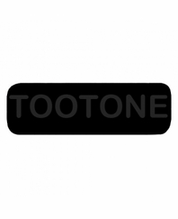 TOOTONE Patch Large Black with Black Letters