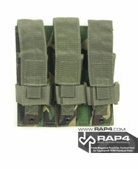 Triple Magazine Pouch for Tactical Vest (British Disruptive Pattern Material - DPM) for Tippmann TPX Paintball Pistol