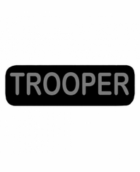 TROOPER Patch Large Black