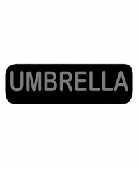 UMBRELLA Patch Large Black