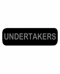 UNDERTAKERS Patch Large Black