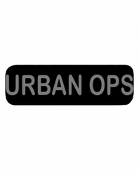 URBAN OPS Patch Small Black